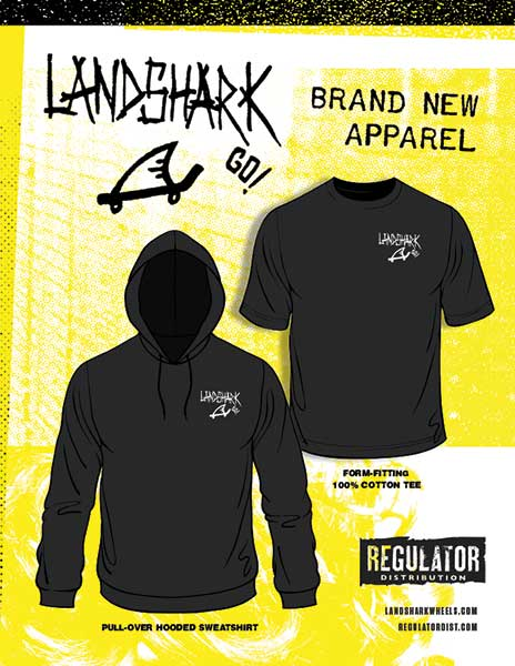 Landshark new tee and hoody
